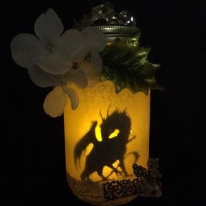 Hand made dragon in a jar.